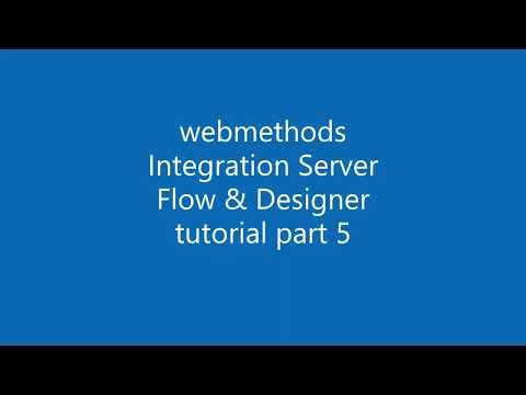 webMethods Integration Server with Flow tutorial 5