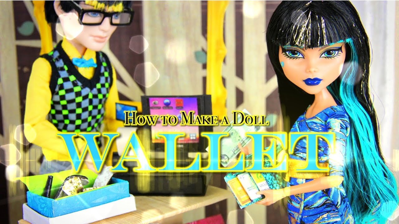 DIY - How to Make: Doll Wallet | plus Accessories ...