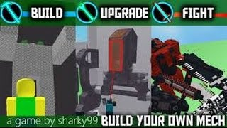 roblox build your own mech how to make a cannon
