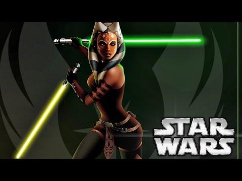 How Ahsoka got Her Second Green/Yellow Lightsaber - Star Wars ...