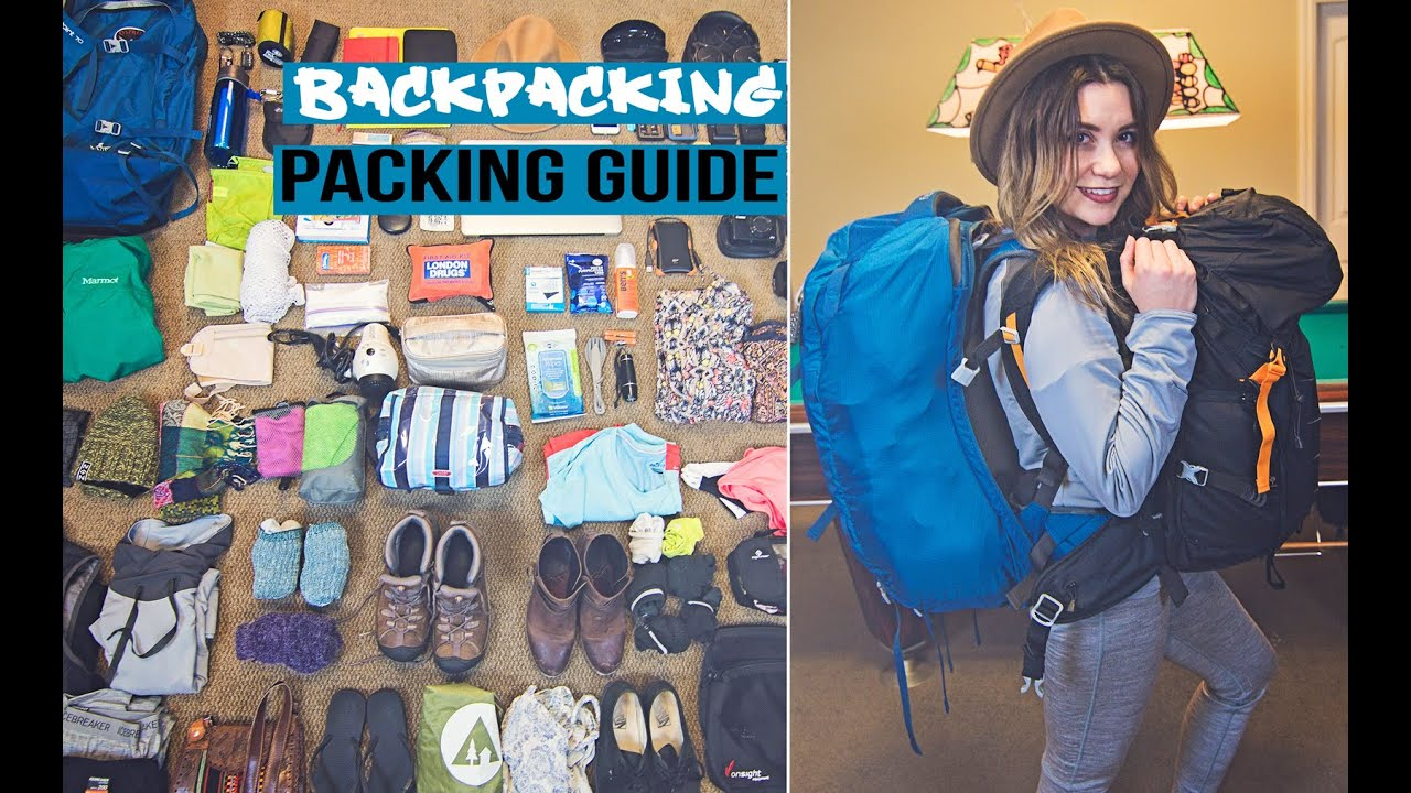Backpacking Travel Packing Guide - YouTube