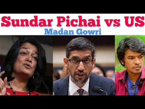 Sundar Pichai Vs US | Tamil | Madan Gowri | MG | Speech | Pramila Jayapal | Congress