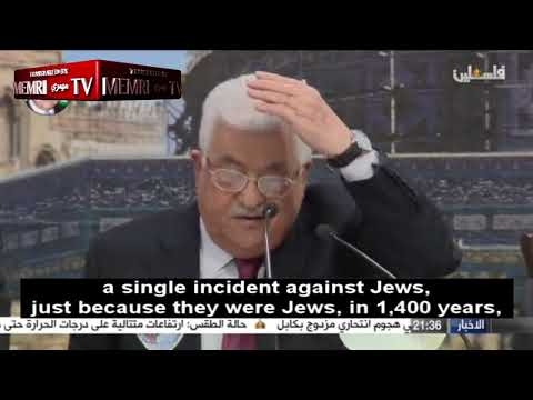 Mahmoud Abbas: Holocaust, Massacres of European Jews Due to Their Function in Society as Usurers