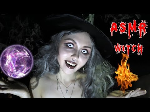 АСМР ОТ ВЕДЬМЫ НА ХЕЛЛОУИН/Как стать ведьмой?BLUE YETI????ASMR Halloween HORROR WITCH????할로윈  leah n