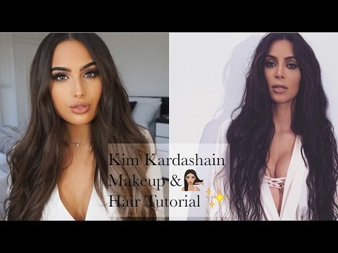 Kim Kardashian MAKEUP & HAIR Tutorial