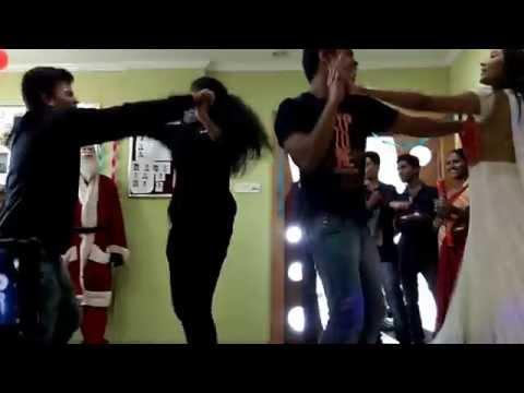 Funny dance performance in Frankfinn X'mas celebration..