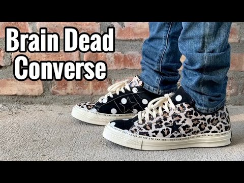 Brain Dead x Converse One Star on Feet
