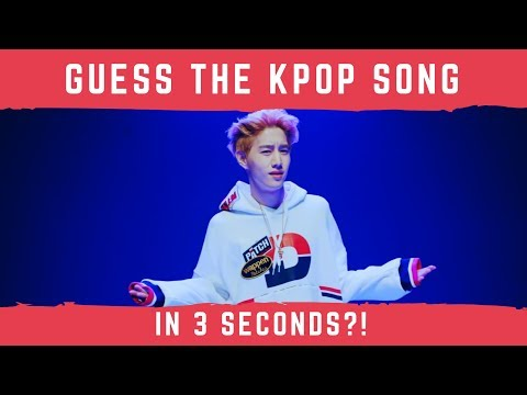 CAN YOU GUESS THE KPOP SONG IN 3 SECONDS?