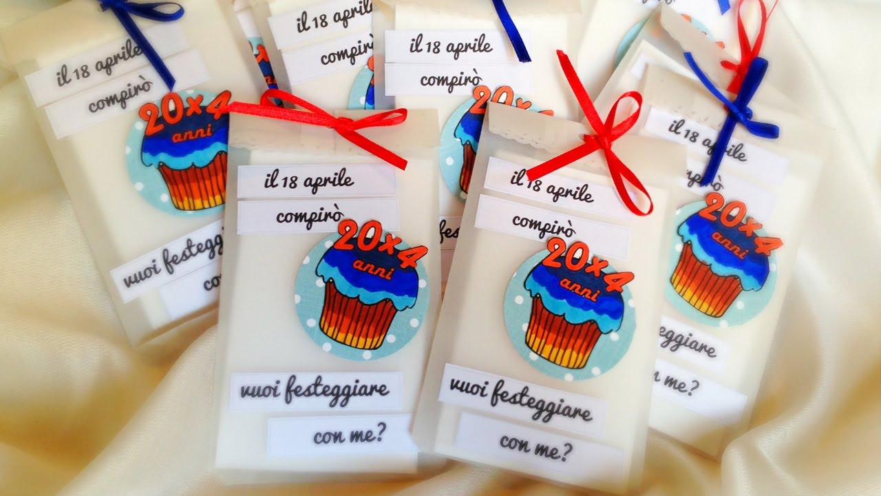 ☼ D.I.Y. Birthday invitations ☼ Inviti fai da te - YouTube