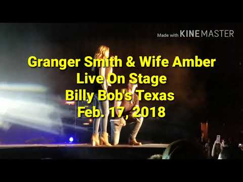 Granger Smith & Wife Amber, Live On Stage-Billy Bob's Tx-Ft Worth 2018