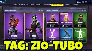 TODAY's FORTNITE SHOP February 25: RIRIVOLTA, RIBELLE, TARO and NARA skins