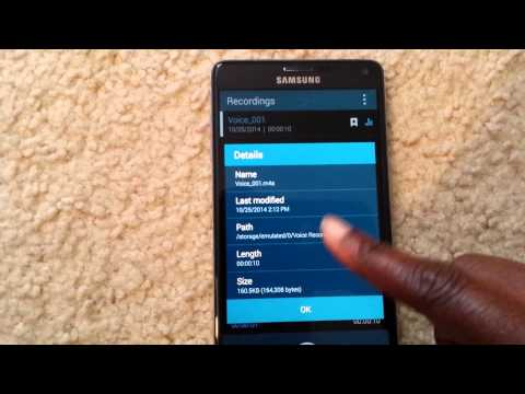 Voice Recorder On Samsung GALAXY Note 4