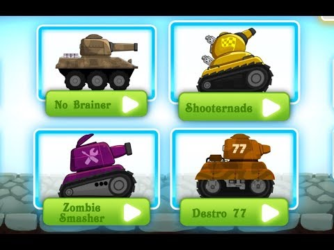 Zombie Survival Games Pocket Tanks Battle / Tinylab Games / Android Gameplay Video
