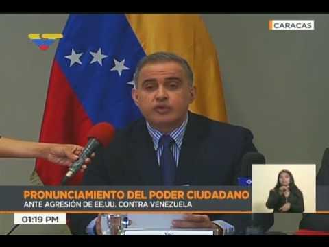 Consejo Moral Republicano rechaza sanciones de Estados Unidos al Presidente Maduro