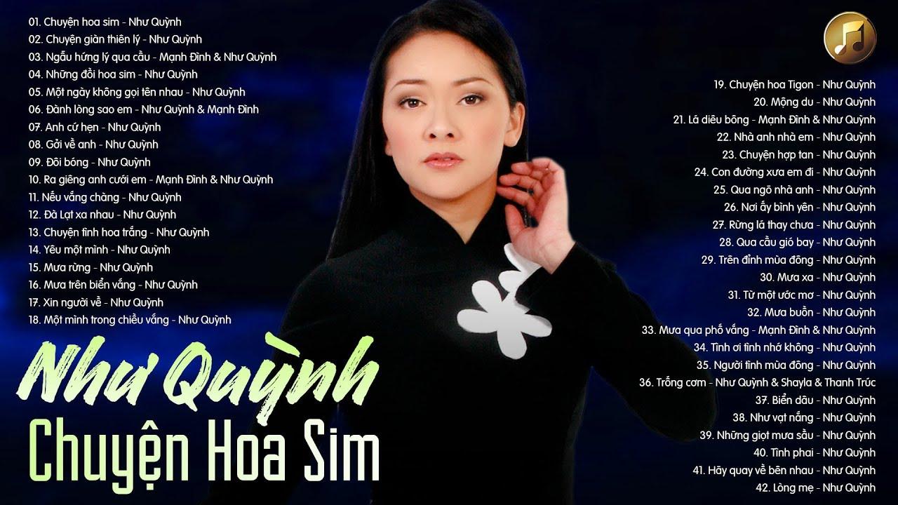 Chuyện Hoa Sim NHƯ QUỲNH - Tuyển Tập 42 Bài Nhạc Vàng Bolero Hay Nhất Của Như Quỳnh