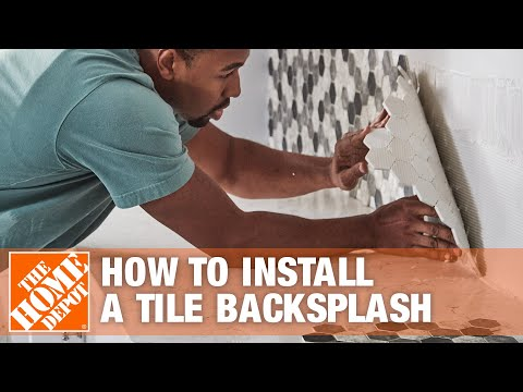how to install a tile backsplash the home depot youtube. Black Bedroom Furniture Sets. Home Design Ideas