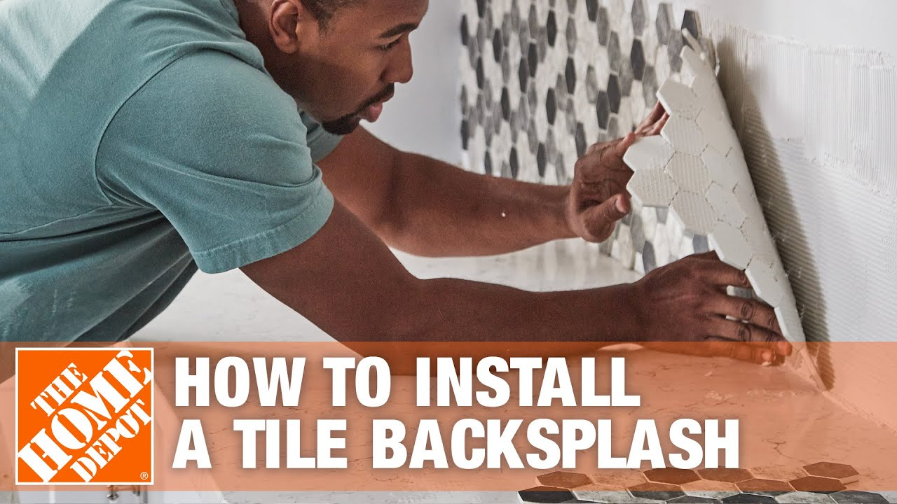 How to Install a Kitchen Tile Backsplash - Kitchen - YouTube