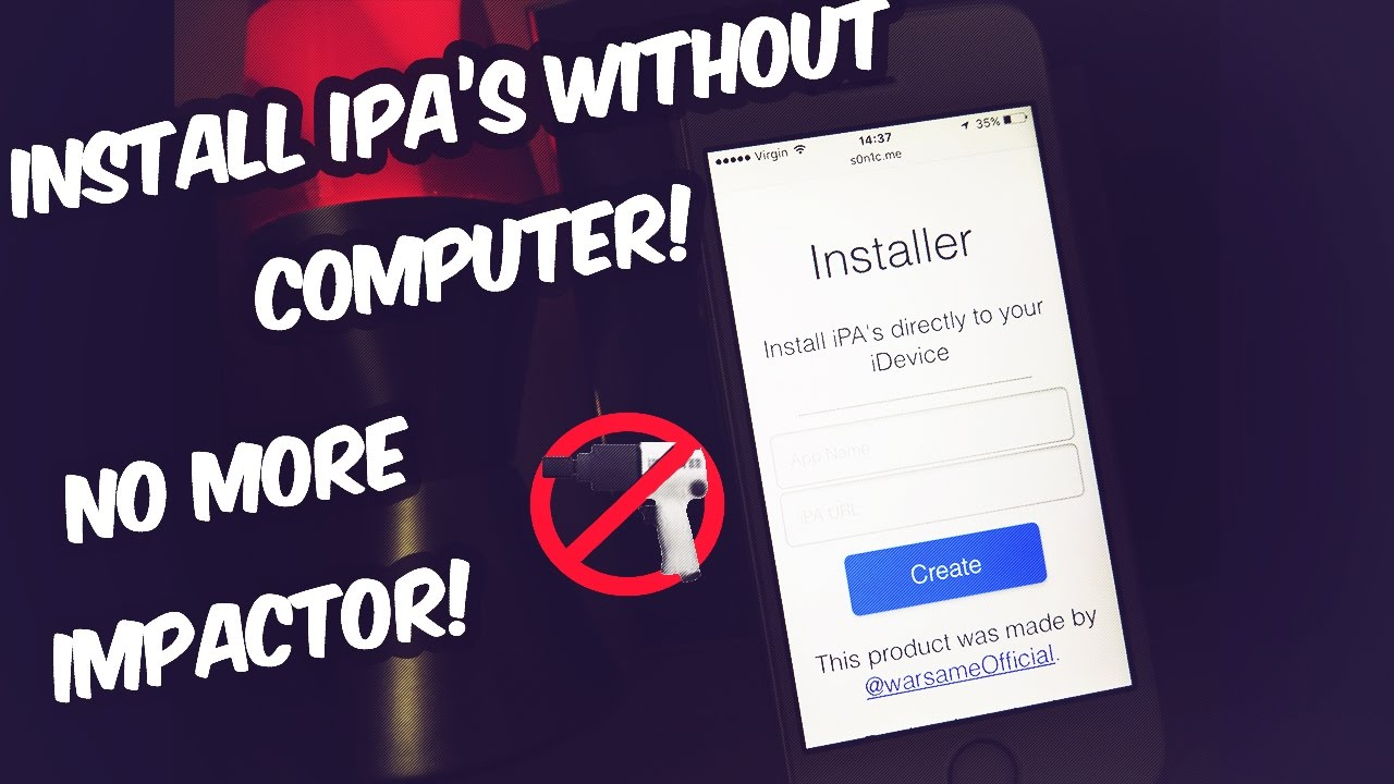 NEW** INSTALL IPA's WITHOUT A COMPUTER?! R I P IMPACTOR - iOS 11 - 11 4 (No  COMPUTER / No JAILBREAK)