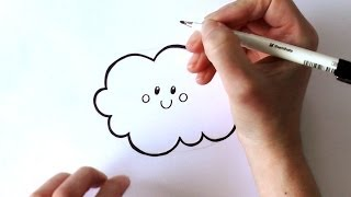 How to Draw a Cartoon Cloud