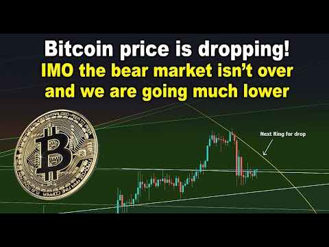 Bitcoin price is dropping! IMO the bear market isn't over and we are going much lower - BTC TA & IRS