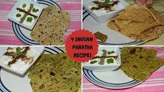 #Breakfast Special-4 Indian Paratha Recipes|Sweet Corn,Matar, Bedmi, Avacado Paratha|Real Homemaking