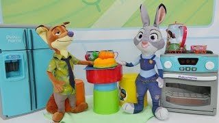 Видео про игрушки из Зверополис. Лис в гостях у кролика