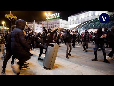 Violentos disturbios en Madrid por el encarcelamiento de Pablo Hasél