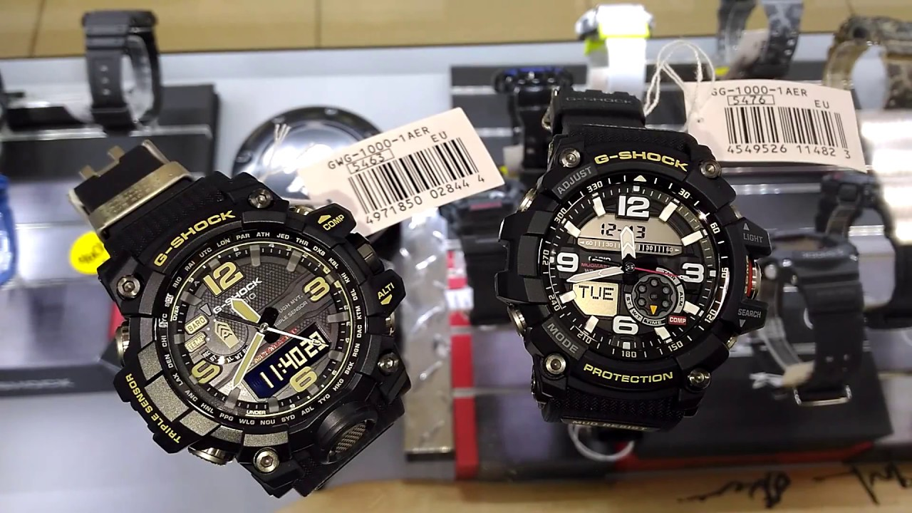 CASIO G SHOCK GWG 1000 1A vs GG 1000