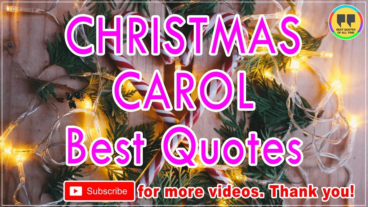 best christmas carol quotes