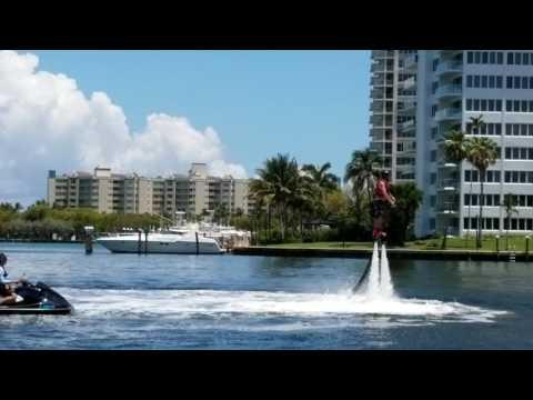 Nick Nguyen fly boarding at Boca Resort Florida