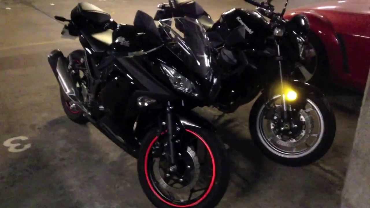 Kawasaki Ninja 300 Vs Kawasaki Z750 Size Comparison Youtube