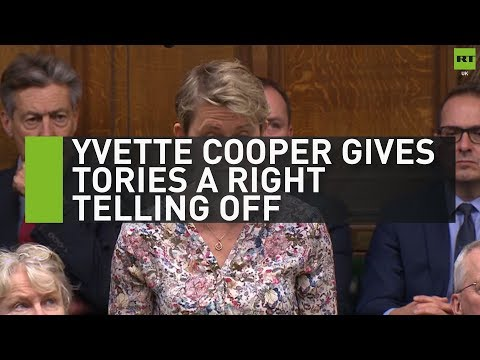Yvette Cooper gives Tories a right telling off