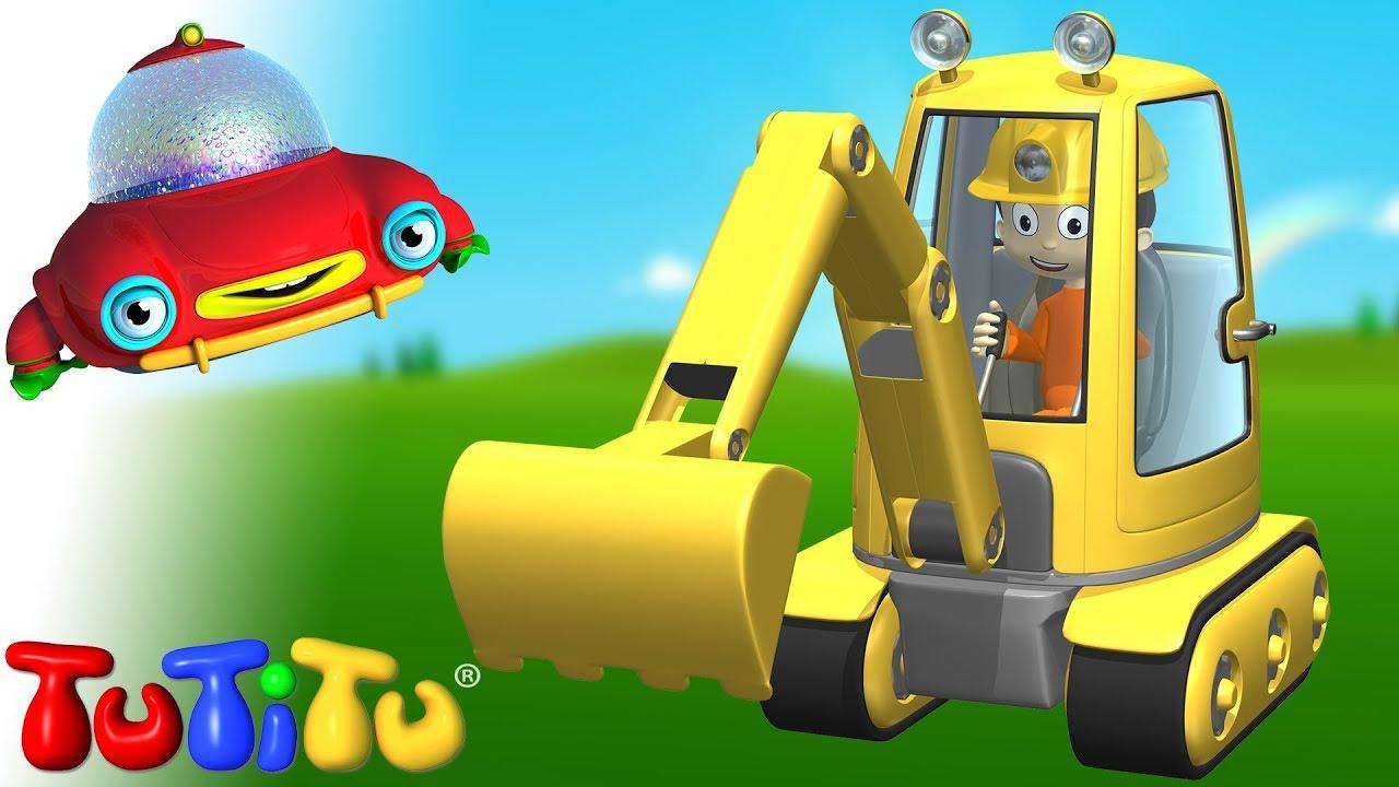 Máy đào đất – Tìm hiểu cách xây dựng đồ chơi với TuTiTu