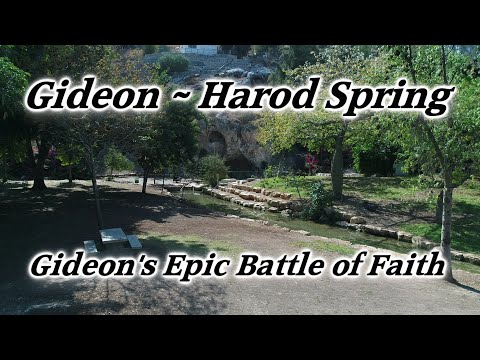 Gideon's Spring, Harod Spring, Israel, Jezreel Valley, Gideon Defeats The Midianites Bible Story