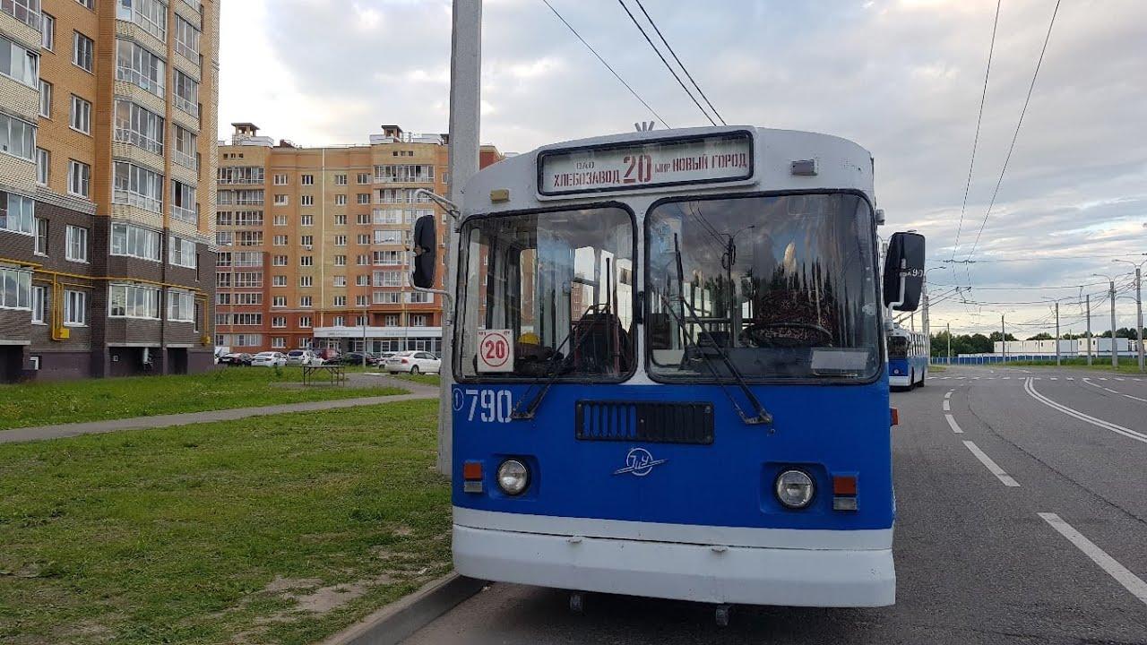 В Новый город | Троллейбус ЗиУ | Чебоксары