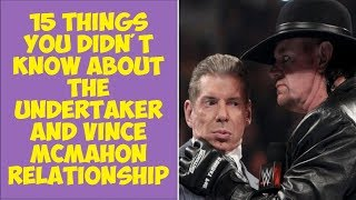 15 Things You Didn't Know About The Undertaker And Vince McMahon's Relationship