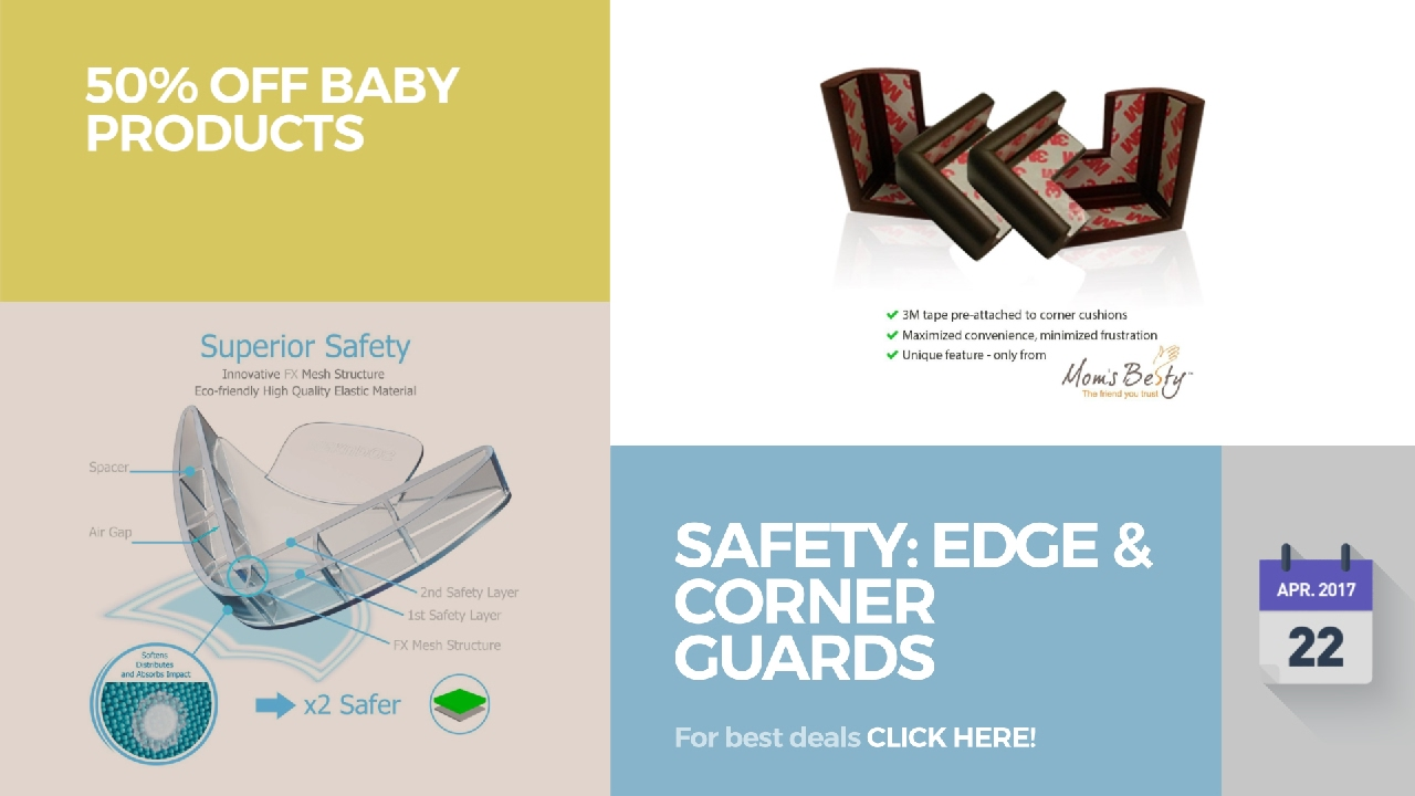 safety edge u0026 corner guards 50 off baby products youtube