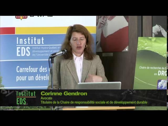Corinne Gendron - Acceptabilité sociale des projets