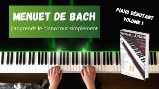 Menuet de Bach - J'apprends le piano tout simplement - Volume 1
