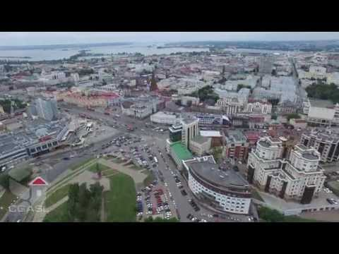 Аэросъемка центральной части города Казани, DJI Phantom 3