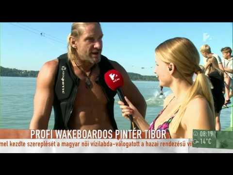 Mádai Vivien bikiniben állt Pintér Tibor mellé a wakeboardra - tv2.hu/mokka