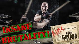 INSANELY Brutal Death Metal Drumming! GNIDA