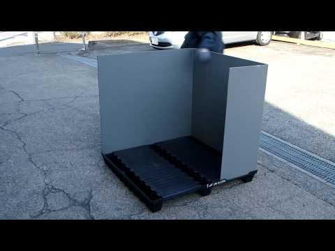 アズパレット 強度テストと使用方法 / AZ pallet strength test and assembling