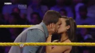 AJ kissing Primo on NXT