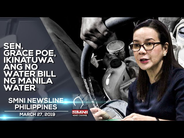 SEN  GRACE POE, IKINATUWA ANG NO WATER BILL NG MANILA WATER