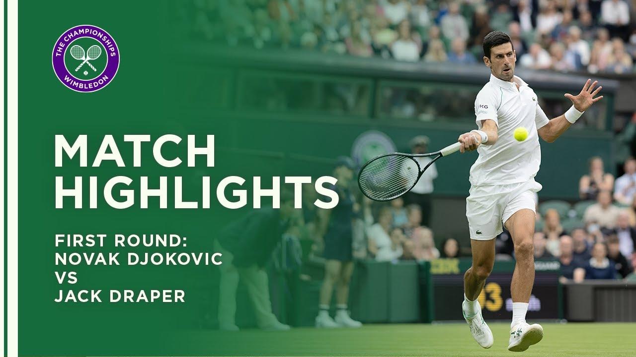 Novak Djokovic vs Jack Draper | First Round Highlights | Wimbledon 2021