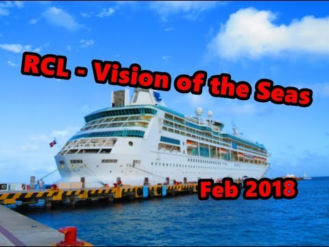 #75 2018 RCL VISION OF THE SEAS 8525 / WALK THRU OF DECK 8 AND 9