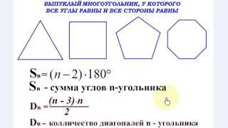 Многоугольники.  Геометрия 8, 9 класс.