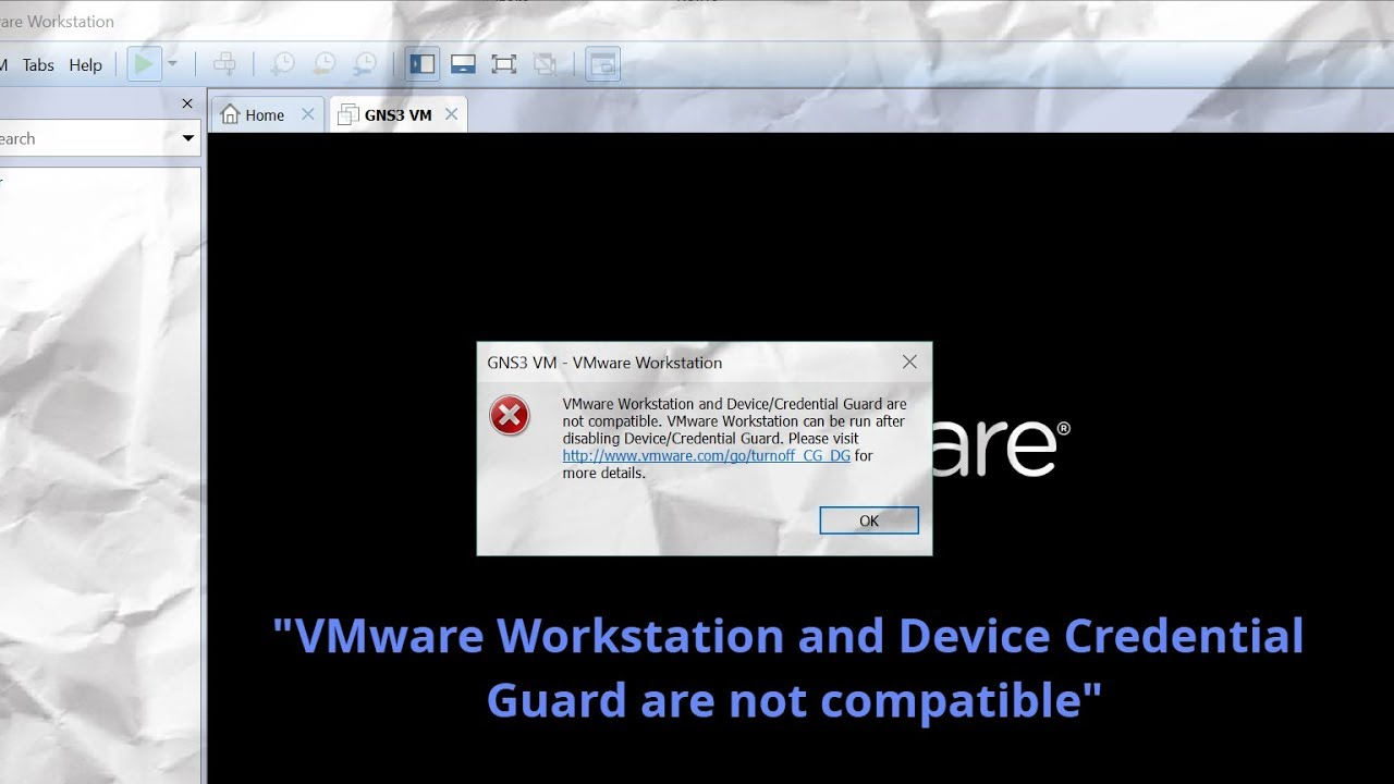 Error en VMWARE con Windows 10 -
