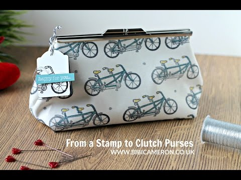 How to sew a clutch purse  with metal frame ( Part 2 of 2)